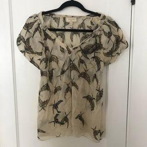 Anthro Moulinette Soeurs Mariposa Silk Blouse